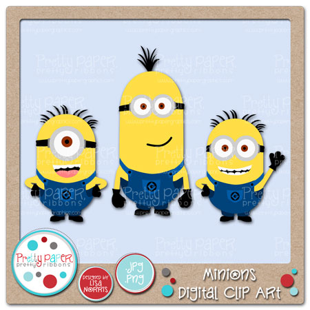 Ca0129 Minions Digital Clip Art Images Included 3 Minions Great For