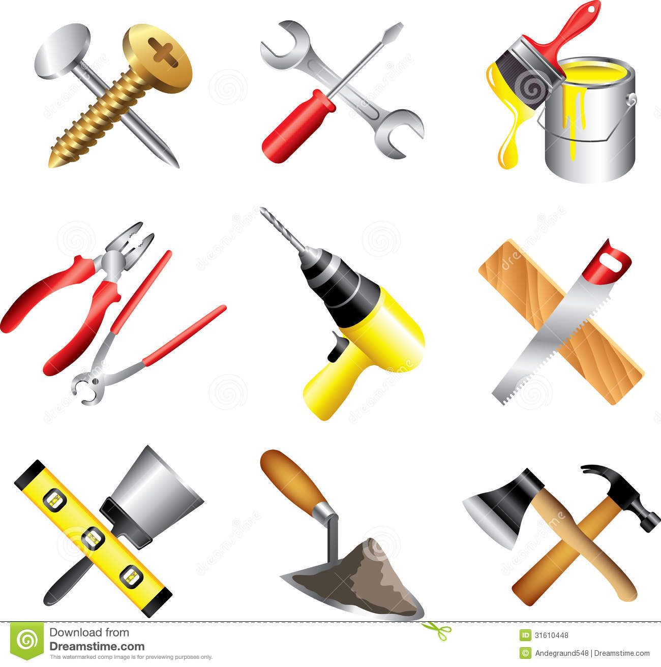 Construction Tools Clipart - Clipart Suggest