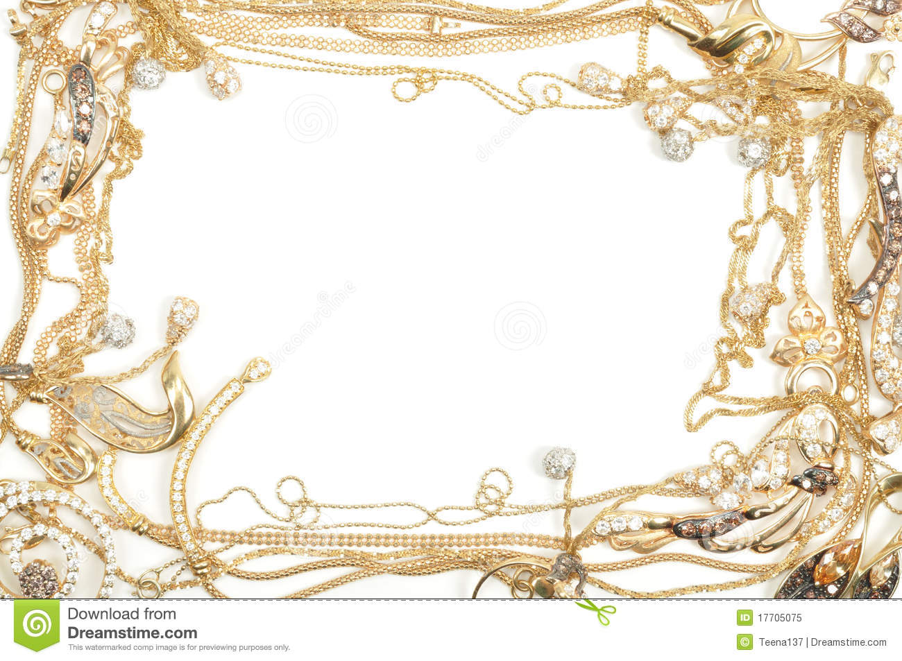 Jewelry Border Clipart Gold Frame Royalty Free Stock Photo   Image
