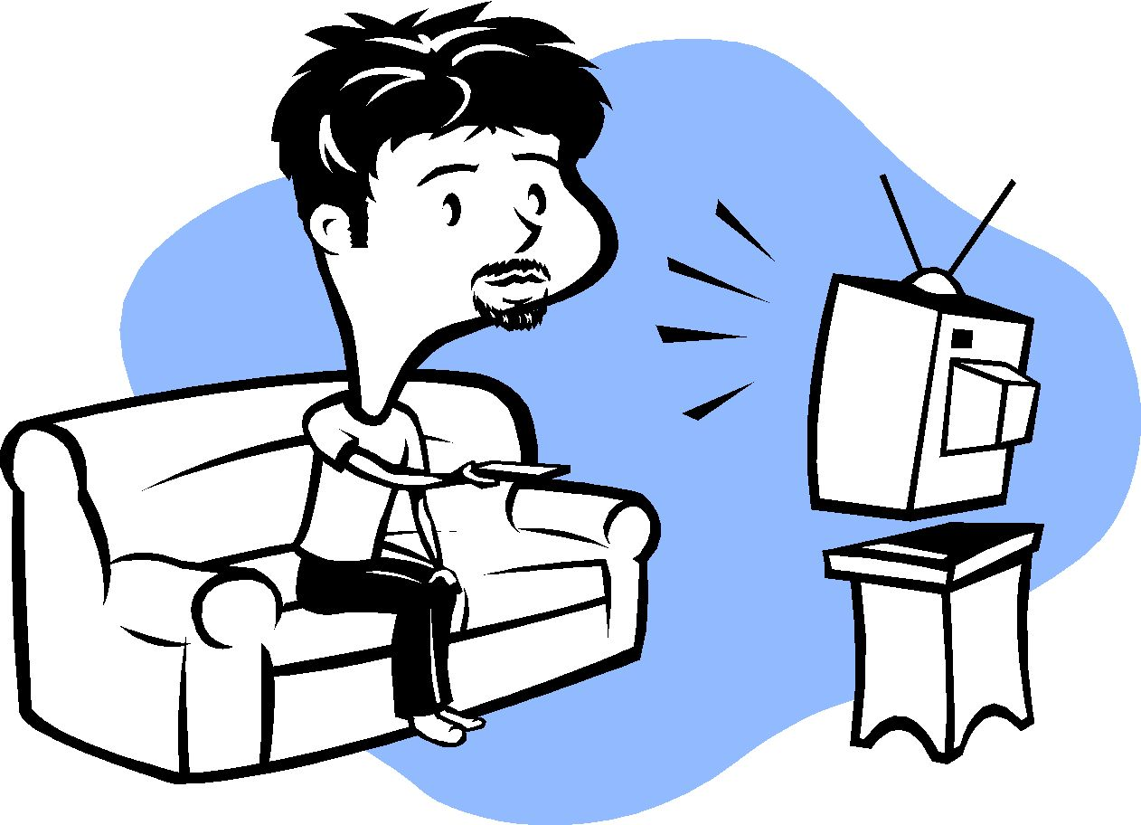 Kids Watching Movie Clipart Watching Movies Clipart Man Watching Tv