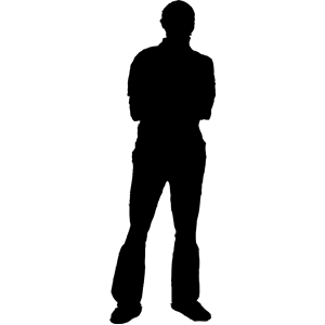 Man Silhouette Clipart Cliparts Of Man Silhouette Free Download  Wmf