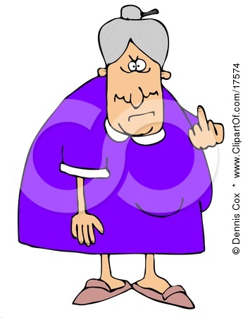 Crazy Lady Clipart - Clipart Kid