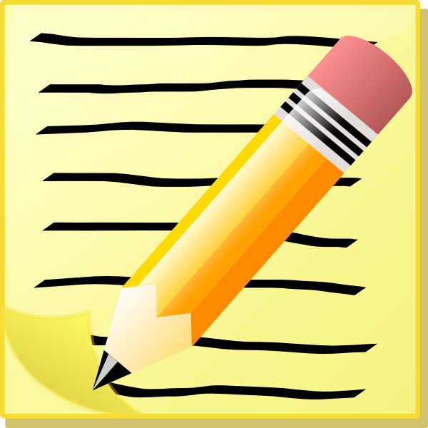 Notepad Clip Art At Clker Com   Vector Clip Art Online Royalty Free