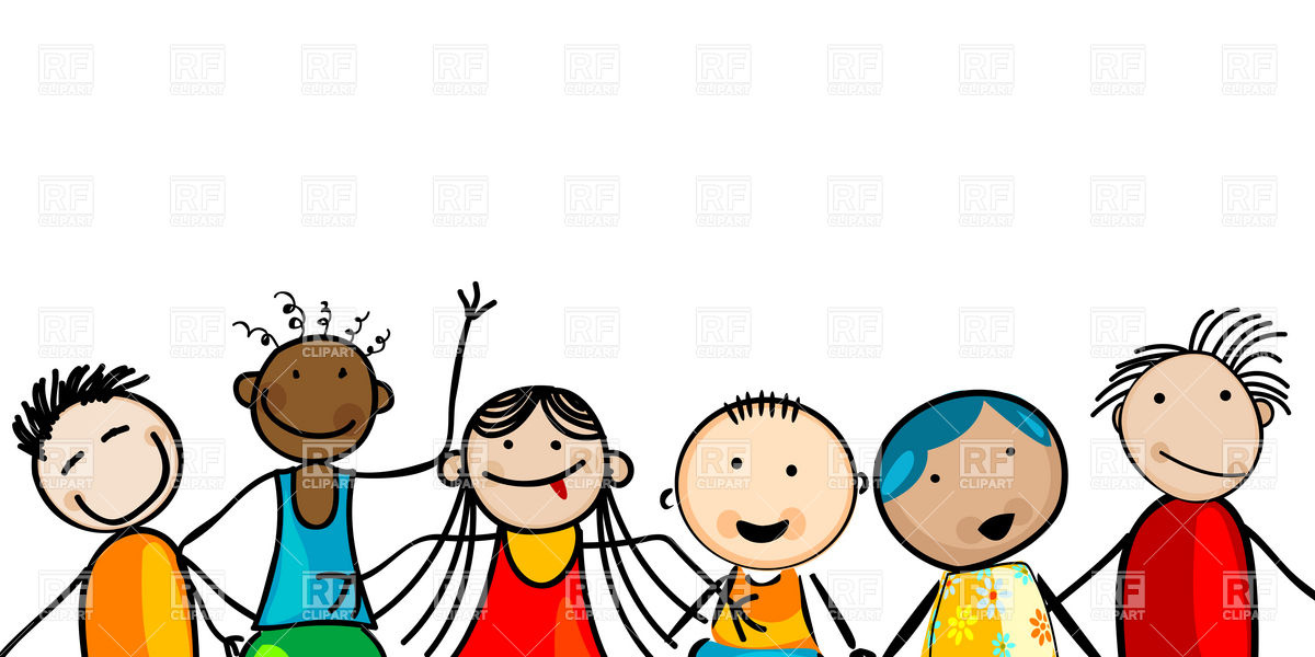 Smiling Multiethnic Kids Download Royalty Free Vector Clipart  Eps