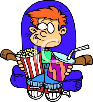 Watching A Movie Clipart