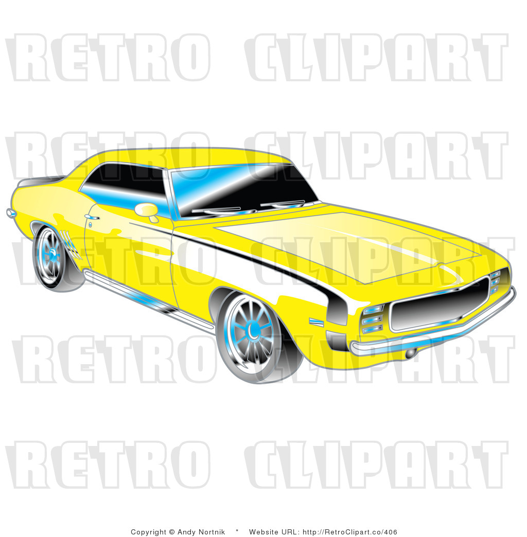 1969 Chevrolet Rs Ss Camaro Retro Royalty Free Vector Clipart