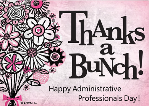 Administrative Professional Day Postcard   Administrative