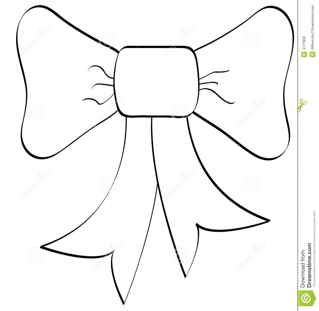 Bow Outline Royalty Free Stock Images   Image  4777909