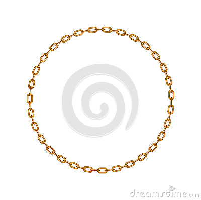Chain Circle Clipart Golden Chain In Shape Of