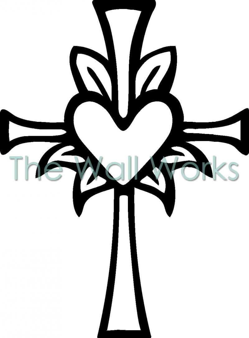 cross with heart vinyl decal religious vinyl decals teacher guided reading clipart guided reading clipart free