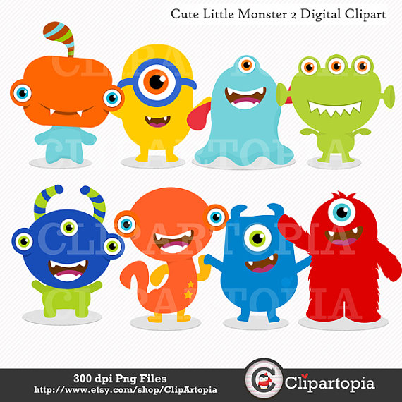 Cute Little Monster 2 Digital Clipart   Monsters By Clipartopia