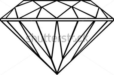 Diamond Outline Isolated