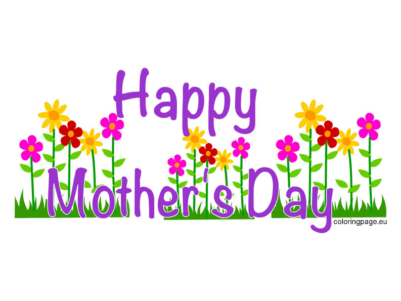 Happy Mother S Day Clip Art   Coloring Page