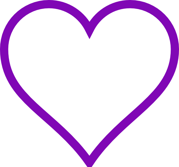 Heart Purple Clip Art At Clker Com   Vector Clip Art Online Royalty