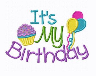 Its My Birthday Embroidery Design Clipart   Free Clip Art Images