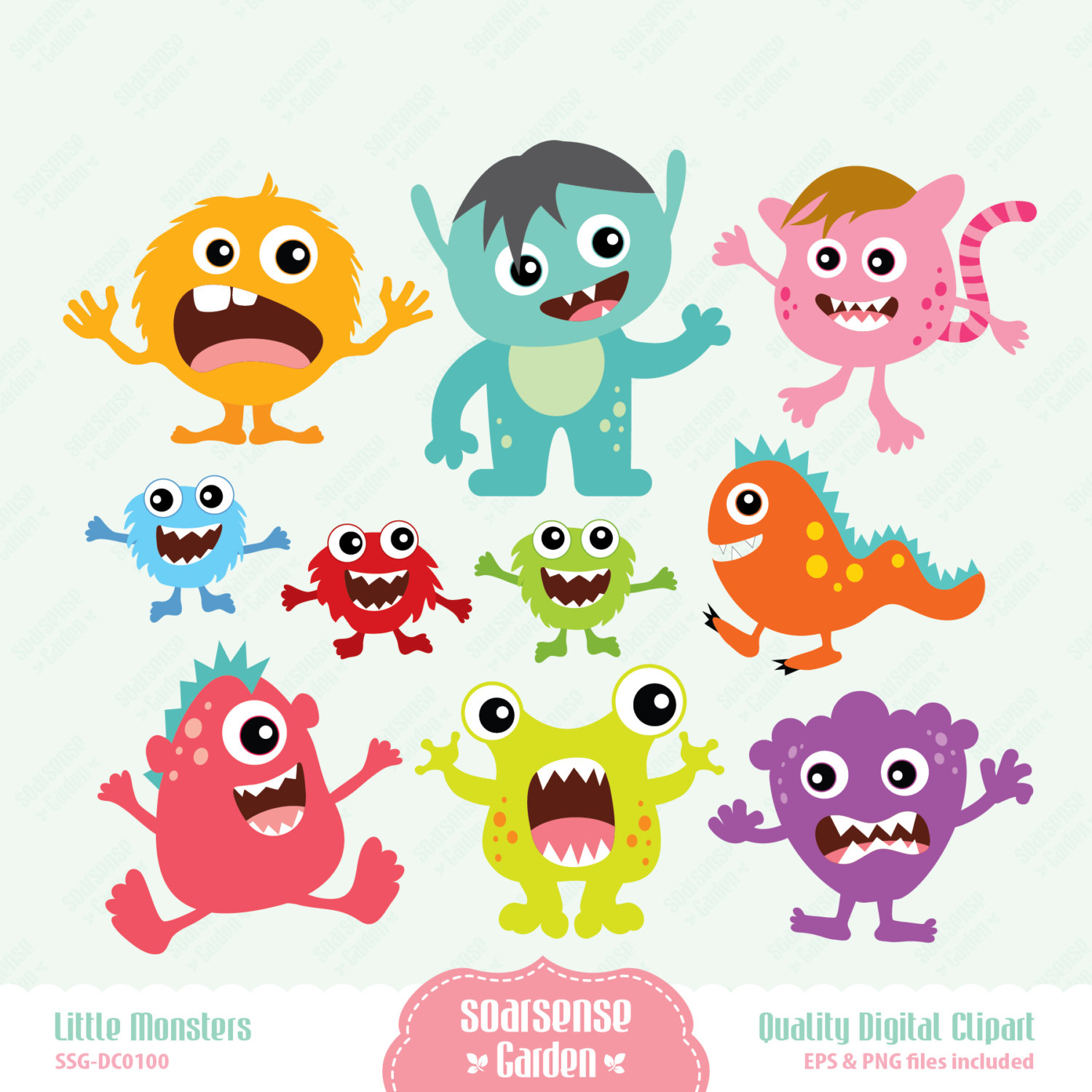 Little Monsters Digital Clipart February 03 2014 At 08 25pm