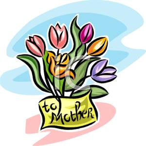 Mother S Day Tulip Bouquet   Royalty Free Clipart Picture