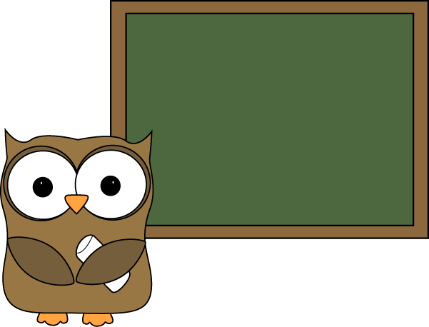 Owl And Blank Chalkboard Clip Art   Owl And Blank Chalkboard Image