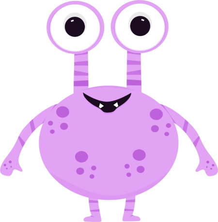 Clip Art Cute Monster Clipart little monster clipart kid purple two eyed clip art image goofy monster
