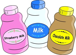 Small Jugs Of Chocolate Milk Strawberry Milk And Regular Milk 0515