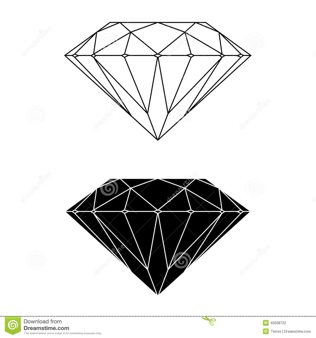 stock photography diamond vector and silhouette image
