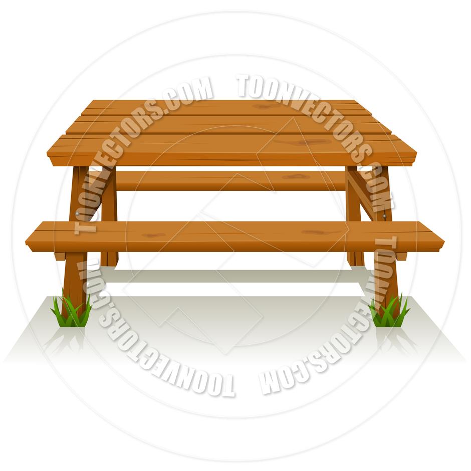 Picnic Table Clip Art Picnic Table Clipart -...