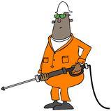 3d Orange Man Pressure Washer Stock Images   Image  27734344