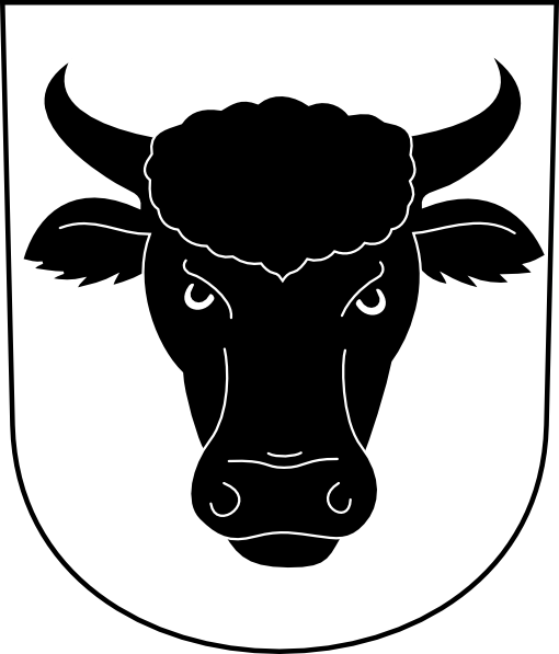 Cow Bull Horns Wipp Urdorf Coat Of Arms Clip Art At Clker Com   Vector
