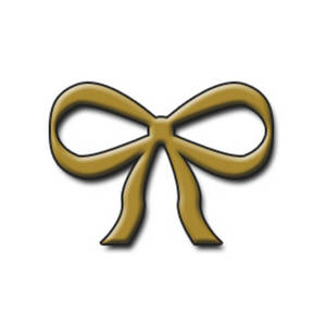 Free Clipart Image Of A Gold Bow  This Picture Shows A Bow