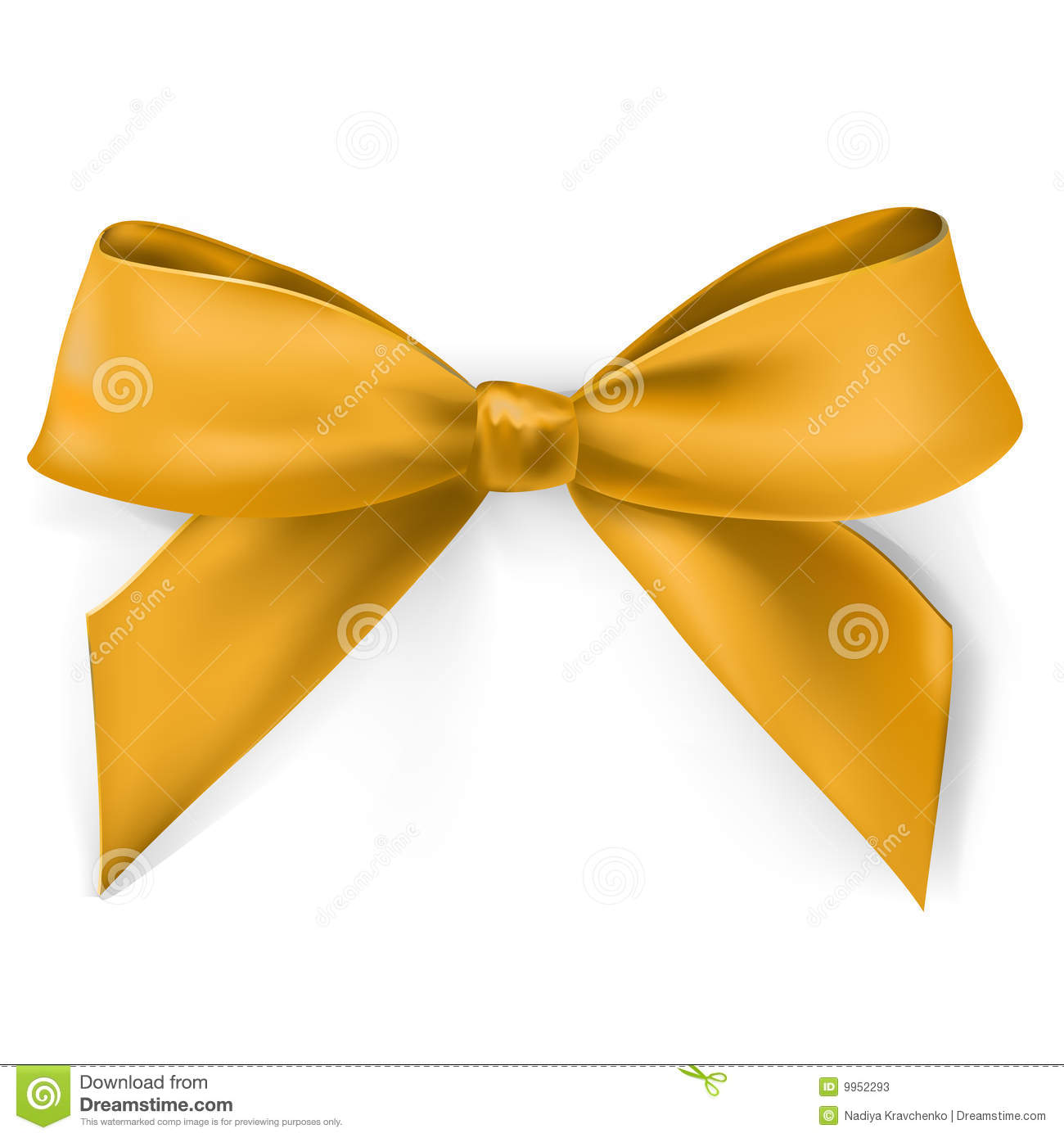 Gold Bow Stock Photos   Image  9952293
