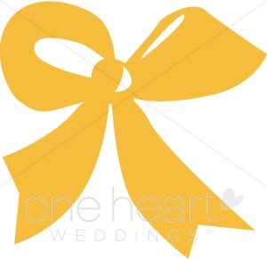 Gold Cheer Bow Clipart     Clipart Party Ribbon