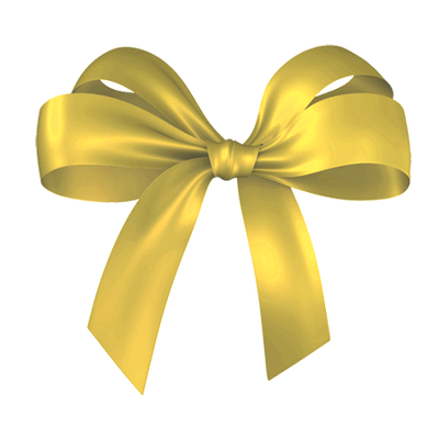 Gold Christmas Bow Clipart