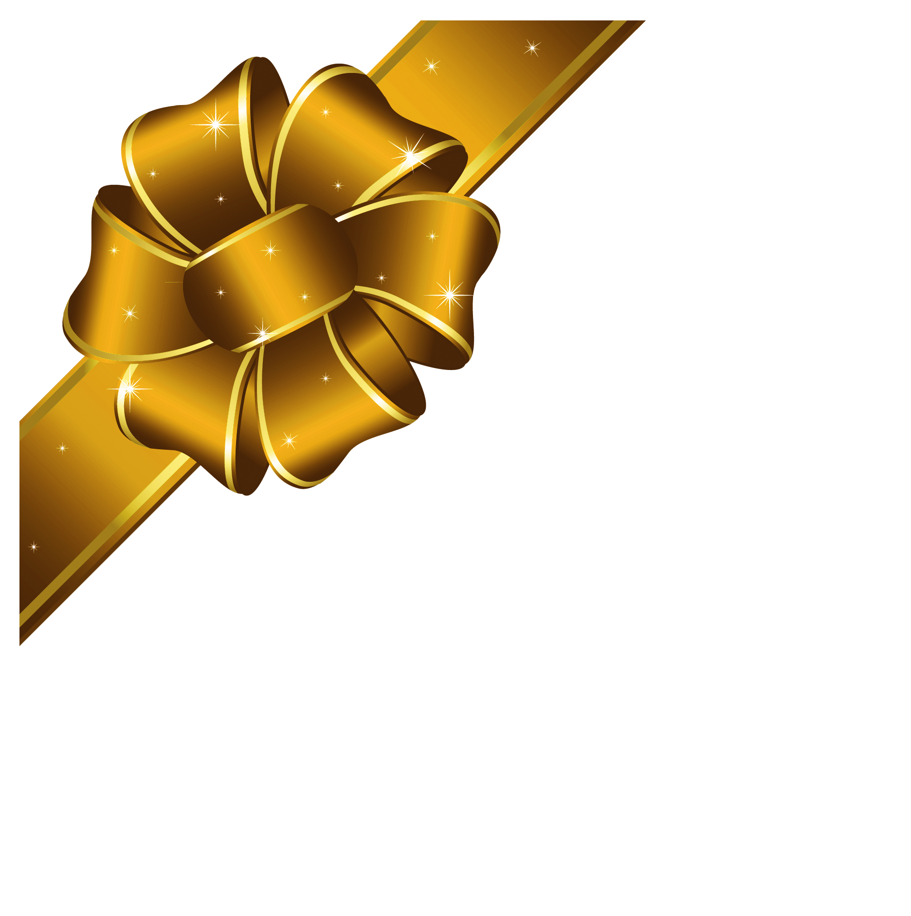 Gold Christmas Bow Clipart - Clipart Kid