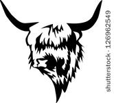 Highland Cattle   Stock Vector