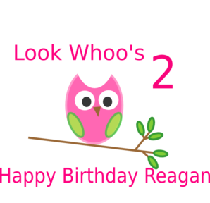 Owl 2nd Birthday Clip Art At Clker Com   Vector Clip Art Online
