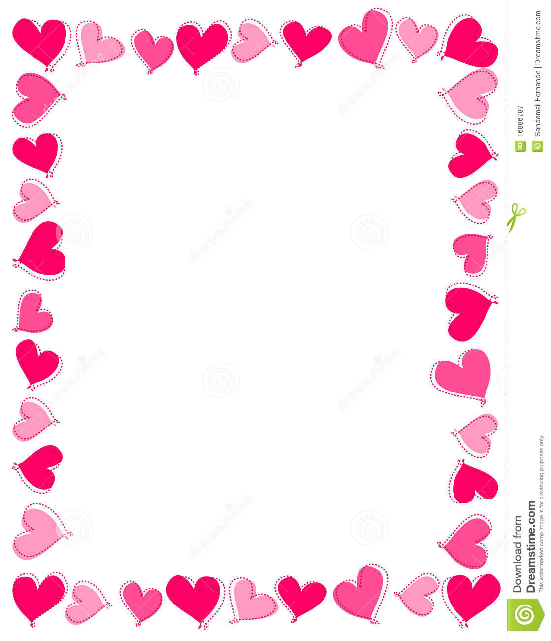 Pink Hearts Border Royalty Free Stock Photography   Image  16886787