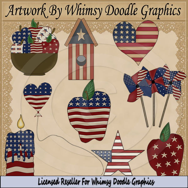 Americana Accents Exclusive Clipart Americana Accents Clipart From
