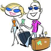 Carry Suitcase Illustrations And Clipart