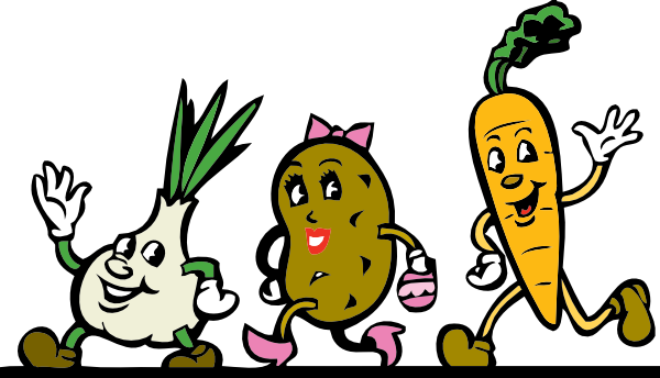 Cartoon Veggies Running Clip Art At Clker Com   Vector Clip Art Online