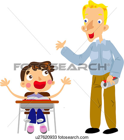 Clipart   Sitting Student Desk Chair Classroom Boy  Fotosearch