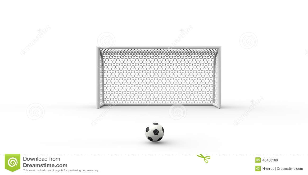 Soccer Goal Black And White Clipart - Clipart Kid