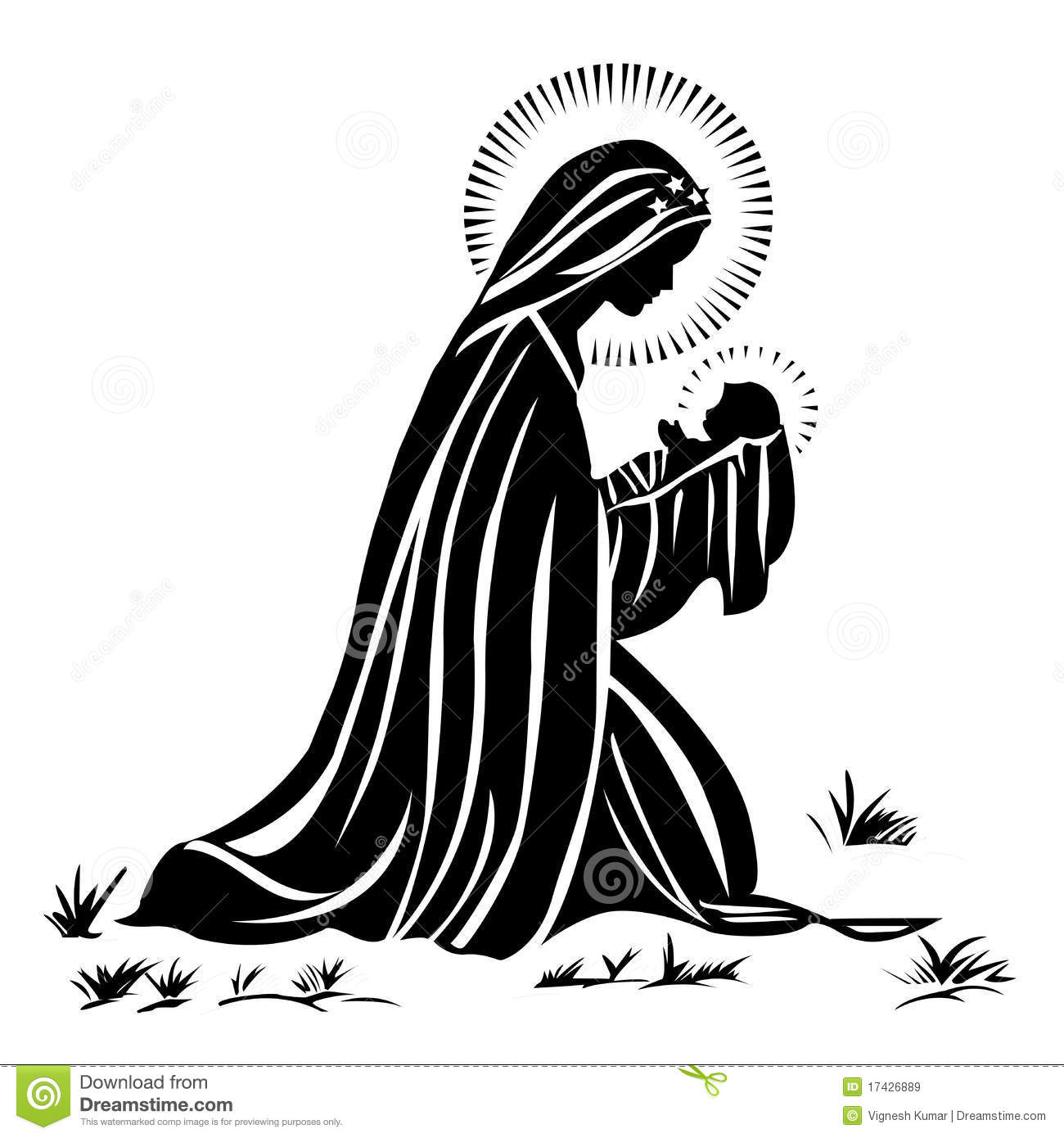 Baby Jesus Black And White Clipart - Clipart Kid