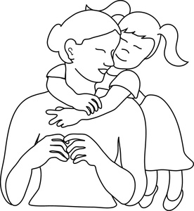 Mother And Daughter Hugging Clipart - Clipart Kid