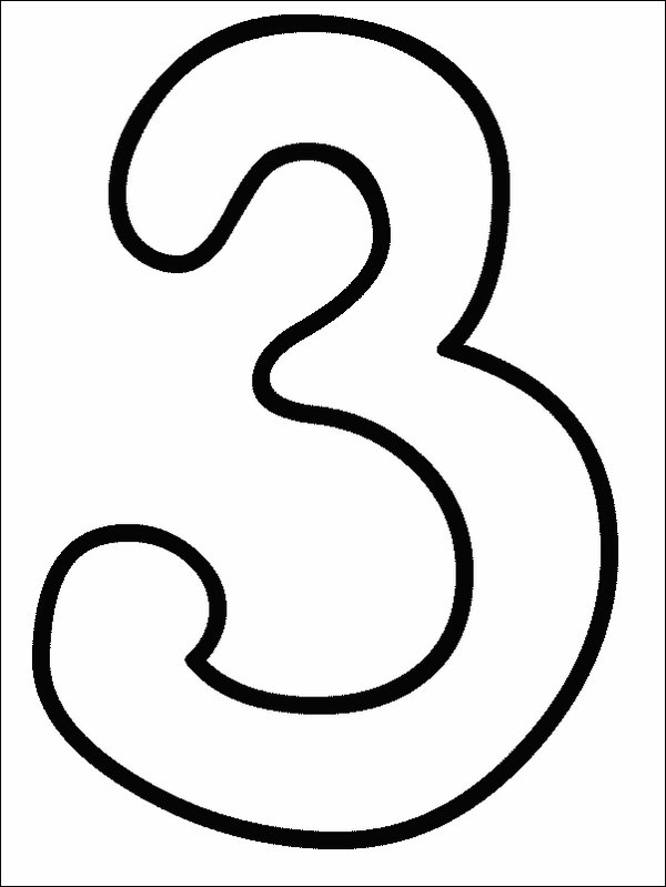 Numbers Coloring Pages   Print Numbers Pictures To Color At