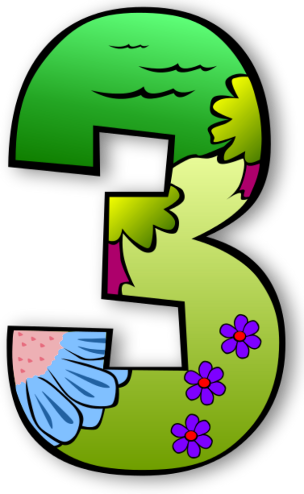 Numbers To Color Clipart