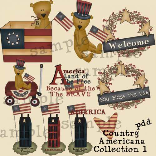 Page   Clipart   Americana Clipart   Country Americana Collection