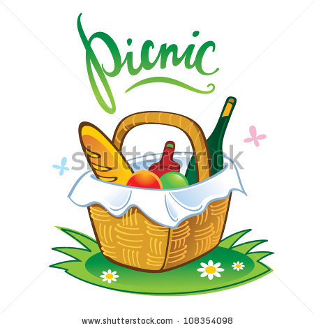Picnic Basket With Ants Clip Art Picnic Basket Clipart Stock Vector