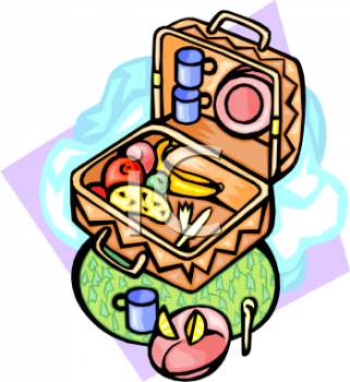Picnic Clipart 0511 0812 0505 0211 Picnic Basket Full Of Food Clipart