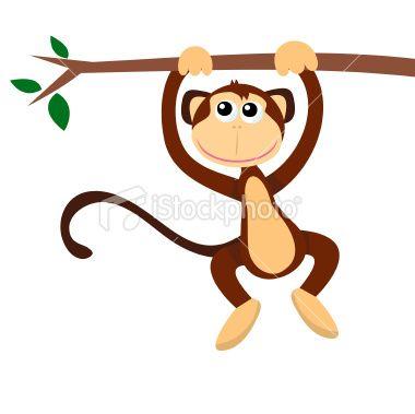 Cartoon monkeys hanging from a tree - photo#17