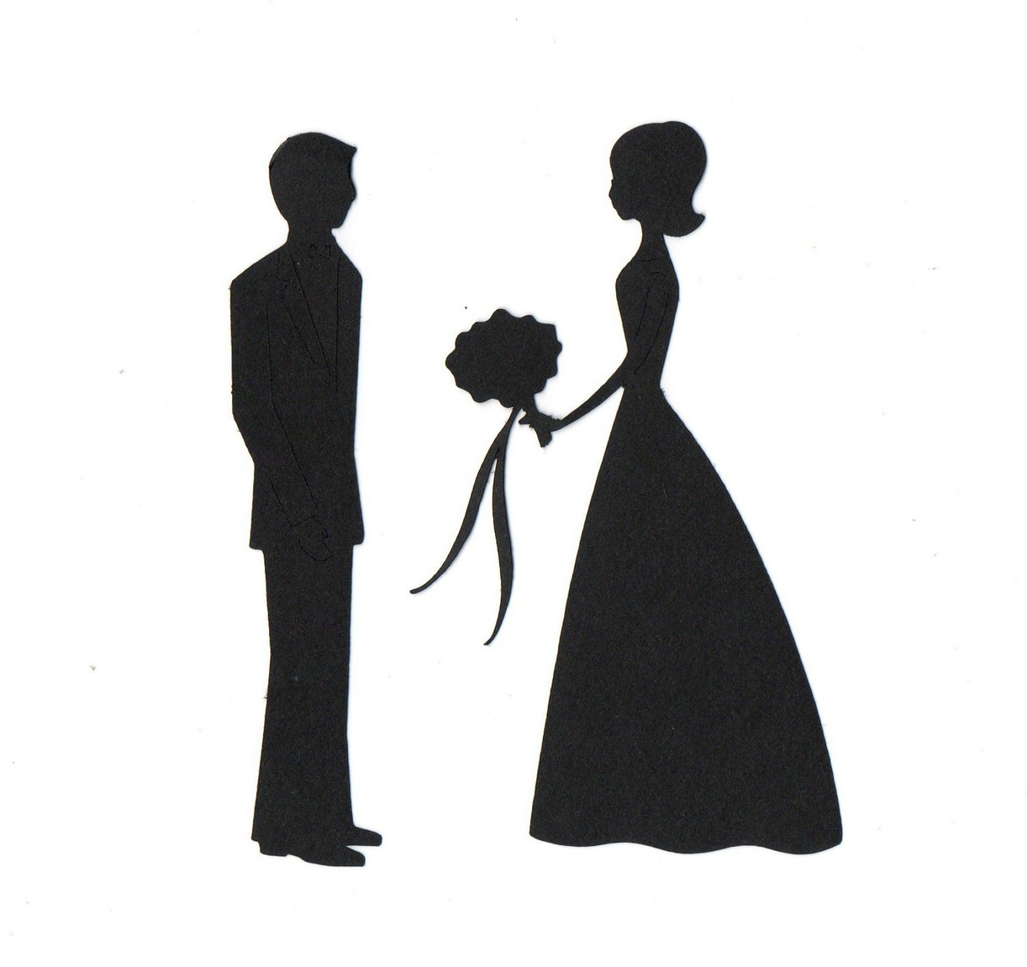 Bride And Groom Silhouette Clipart - Clipart Suggest